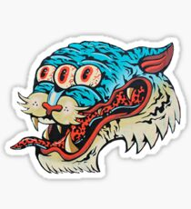 Three Eyed Blue Tiger Sticker