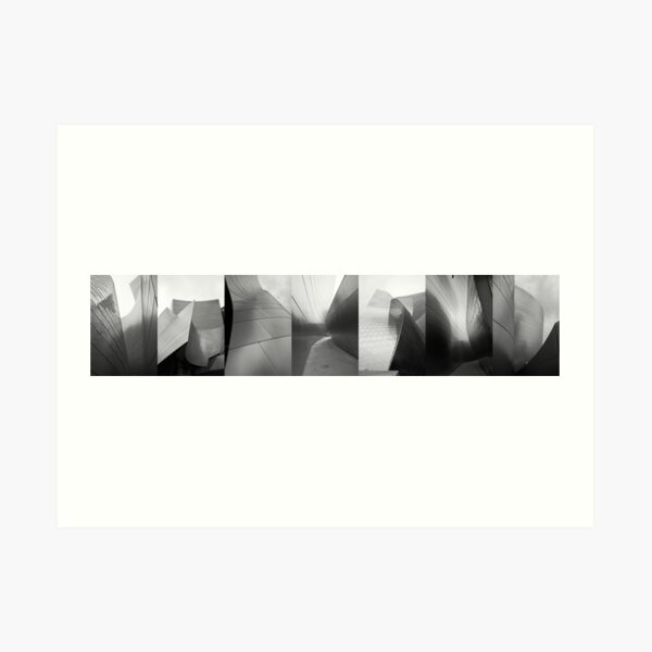 Gehry Panoramic Black and White Art Print