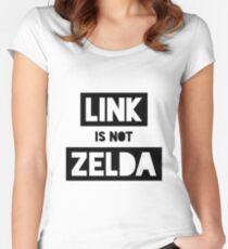 Link Is Not Zelda Women's Fitted Scoop T-Shirt