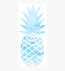 Light Blue Pineapple Photographic Print