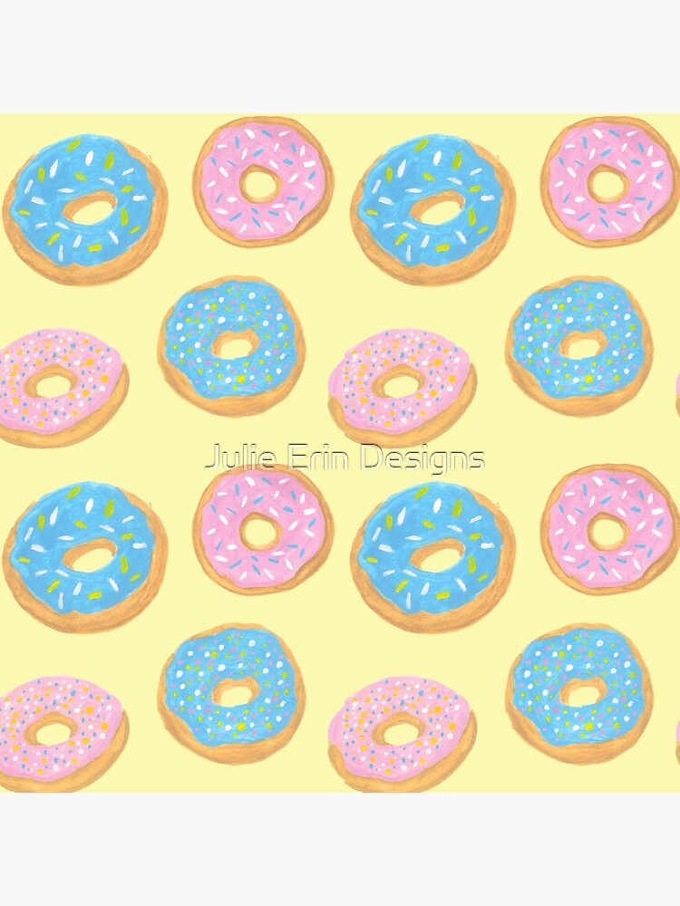Pastel Donut Pattern by julieerindesign