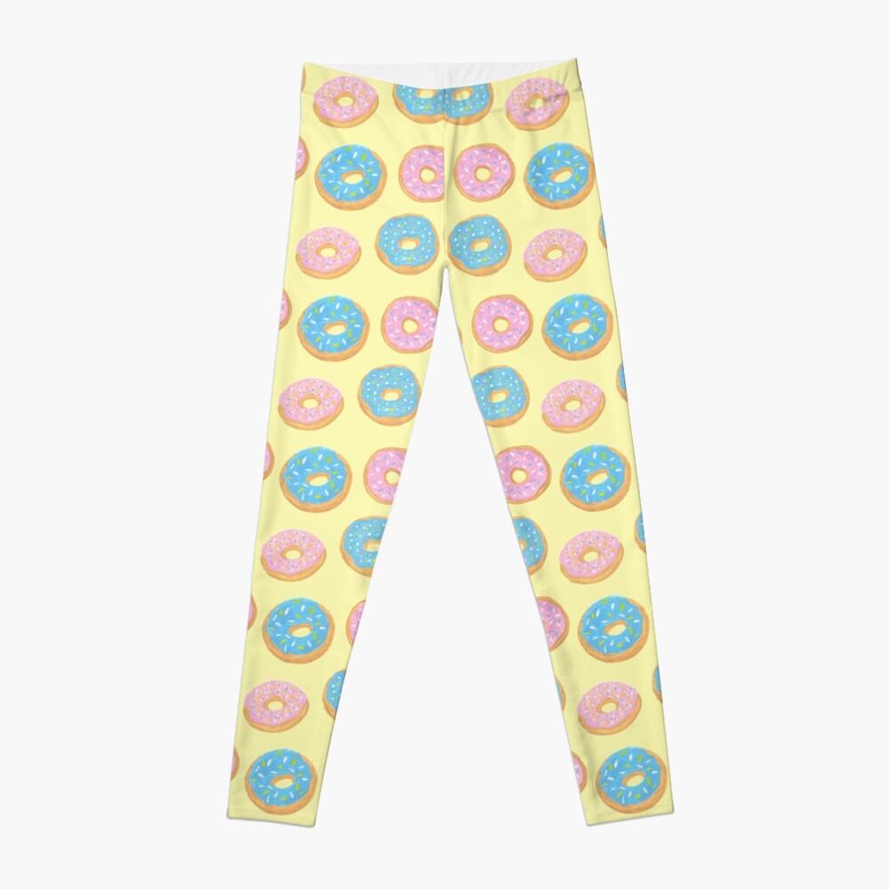 Doughnut Pattern Leggings Front