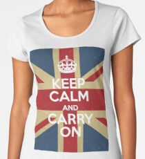 Keep Calm And Carry On Women's Premium T-Shirt