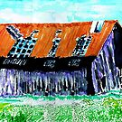 Tattered Prairie Barn by Seth  Weaver