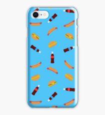 Summer BBQ (blue) iPhone Case/Skin