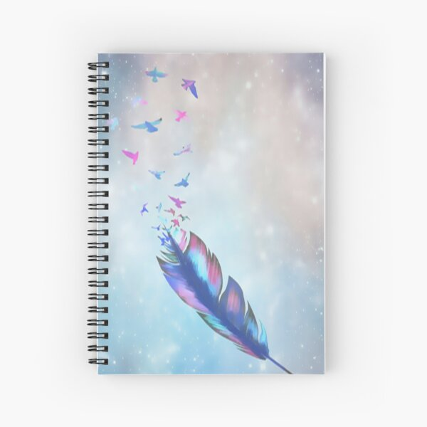 Feathered birds Spiral Notebook