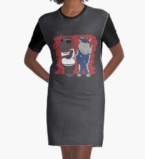 Hiphopopotamus vs Rhymenoceros Graphic T-Shirt Dress