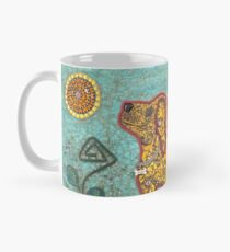 Durango, the Yellow Dog - Mixed Media Mosaic Mug