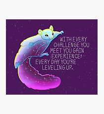 """Every Day You're Leveling Up"" Flying Space Squirrel Photographic Print"