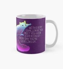 """Every Day You're Leveling Up"" Flying Space Squirrel Classic Mug"