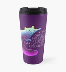 """""""Every Day You're Leveling Up"""" Flying Space Squirrel Travel Mug"""