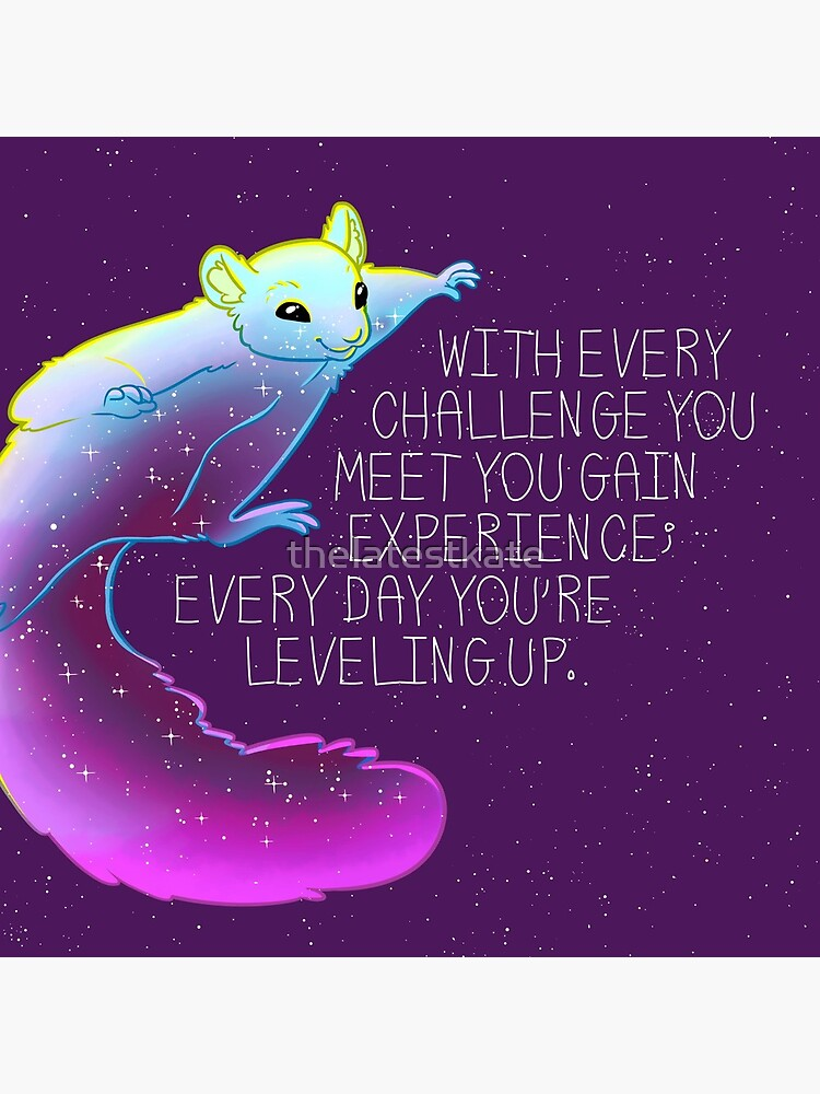 """""""Every Day You're Leveling Up"""" Flying Space Squirrel by thelatestkate"""