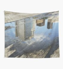 City reflection Wall Tapestry