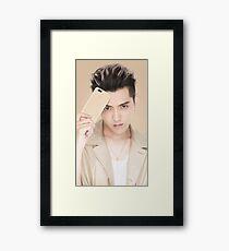 Kris Wu (gold) Framed Print