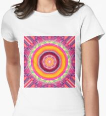 Abstract / Psychedelic / Geometric Artwork Women's Fitted T-Shirt