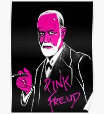 awesome freud pink Poster
