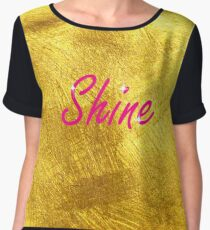 Ornate Glitzy Gold Shine  Chiffon Top