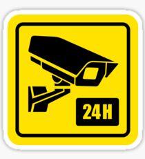 24 Hour Video Camera Sign  Sticker