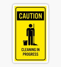 Caution Cleaning in Progres Sign PNG Clip Art Sticker