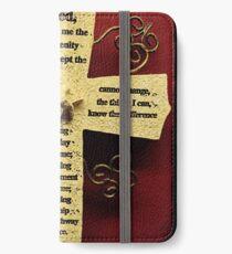 Cross - Serenity prayer iPhone Wallet/Case/Skin