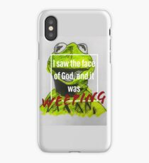 Existential Kermit- the Face of God iPhone Case/Skin