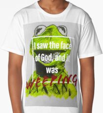 Existential Kermit- the Face of God Long T-Shirt