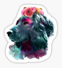 boykin spaniel watercolor pet portrait | Spade Sticker