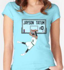 Jayson Tatum Dunk Women's Fitted Scoop T-Shirt