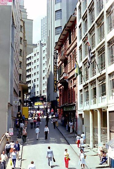 Downtown Sao Paulo, Brazil - 1982 (9) by SteveOhlsen
