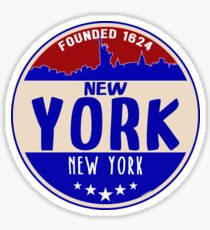 New York City Skyline Statue Of Liberty Sticker