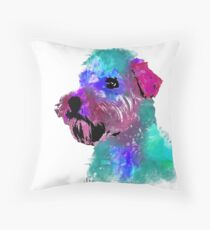 wheaten terrier watercolor pet portrait | Harry Throw Pillow