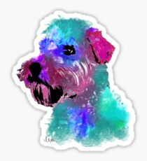 wheaten terrier watercolor pet portrait | Harry Sticker
