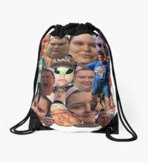 Christine Sydelko Collage  Drawstring Bag