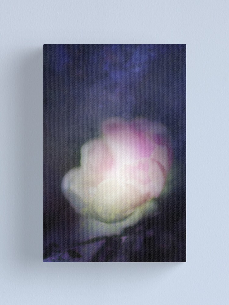 Alternate view of delicate pink old fashioned rose pattern 2 Canvas Print