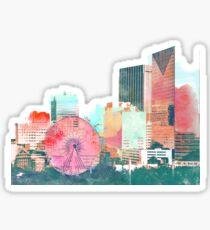 downtown atlanta skyline in color Sticker