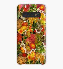 Autumn Fall Leaves Pumpkin Thanksgiving Seasonal Woodland Collage Case/Skin for Samsung Galaxy