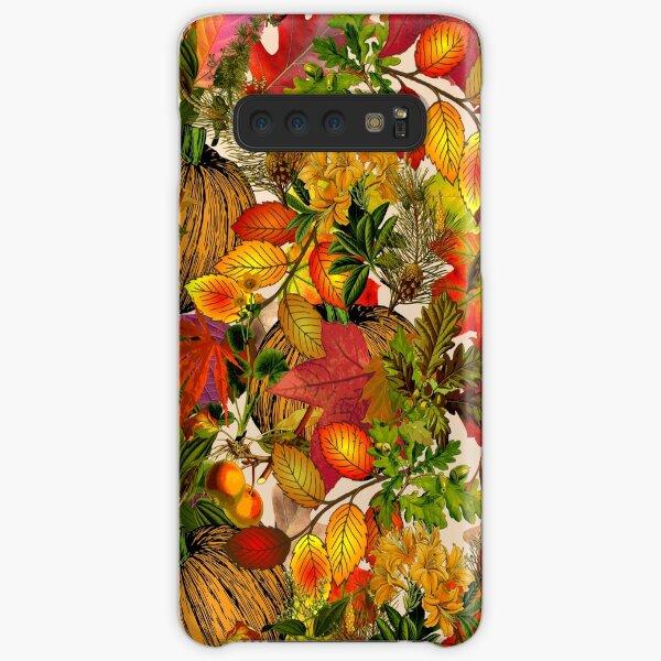 Autumn Fall Leaves Pumpkin Thanksgiving Seasonal Woodland Collage Samsung Galaxy Snap Case