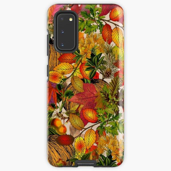 Autumn Fall Leaves Pumpkin Thanksgiving Seasonal Woodland Collage Samsung Galaxy Tough Case