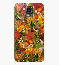 Autumn Fall Leaves Pumpkin Thanksgiving Seasonal Woodland Collage Case/Skin for Samsung Galaxy