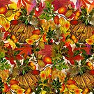 Autumn Fall Leaves Pumpkin Thanksgiving Seasonal Woodland Collage by Beverly Claire Kaiya