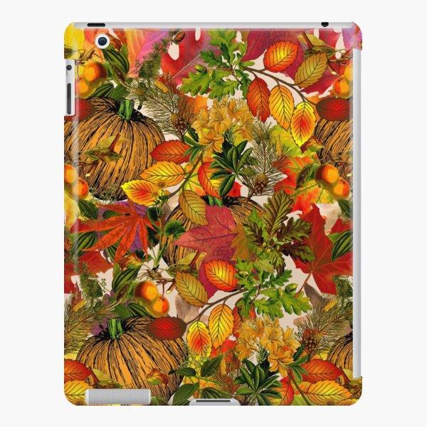 Autumn Fall Leaves Pumpkin Thanksgiving Seasonal Woodland Collage iPad Snap Case