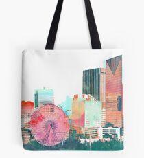 downtown atlanta skyline in color Tote Bag