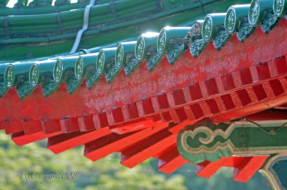 Chinese Roof Detail by PixCrazy