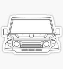 Toyota Land Cruiser 70 Series Sticker