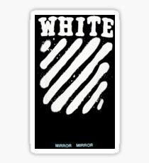 Off White Fan Art Stripes  Sticker