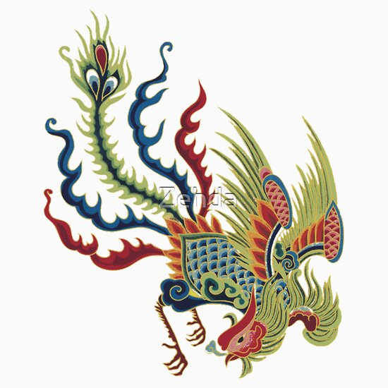 TShirtGifter presents: Chinese Rooster Asian Art