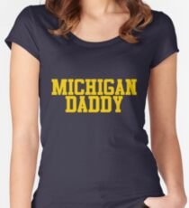 Michigan Daddy  Women's Fitted Scoop T-Shirt