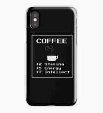 Coffee RPG Stats iPhone Case