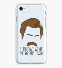 Ron Swanson Quote Parks and Recreation iPhone Case/Skin