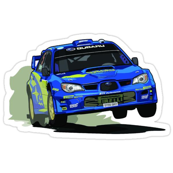 Subaru Impreza Wrx Sti World Rally Championship Wrc Car Stickers By